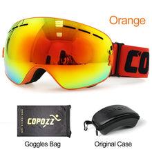 Load image into Gallery viewer, COPOZZ Brand Anti-fog Ski Goggles for Skiing and Snowboarding-ski goggles-PureDesignTees