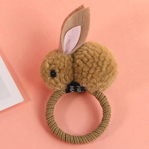 Cute Fuzzy Bunny Hair Bands For Girls-hair accessories-PureDesignTees
