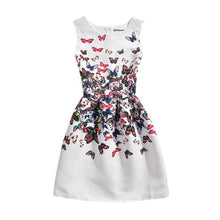 Load image into Gallery viewer, Floral Print Sleeveless Teenagers Dress-dress-PureDesignTees