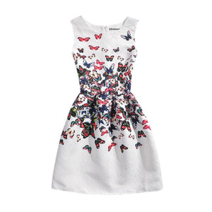 Floral Print Sleeveless Teenagers Dress-dress-PureDesignTees