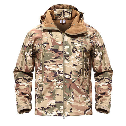 Shark Skin Military Tactical Softshell Waterproof Hoody