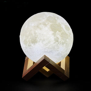 3D Print Rechargeable LED Moon Lamp-lamp-PureDesignTees