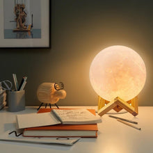 Load image into Gallery viewer, 3D Print Rechargeable LED Moon Lamp-lamp-PureDesignTees