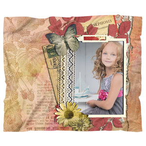 Scrapbook Design Personalized Blanket - Upload your own image!-Blanket Template-PureDesignTees