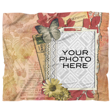 Load image into Gallery viewer, Scrapbook Design Personalized Blanket - Upload your own image!-Blanket Template-PureDesignTees