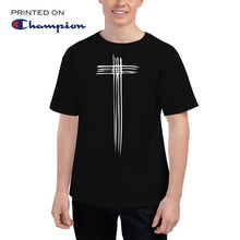 Load image into Gallery viewer, Sketch Cross Men's Champion T-Shirt-Champion T-shirt-PureDesignTees