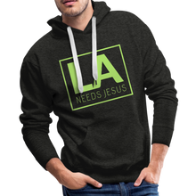 Load image into Gallery viewer, LA Needs Jesus Men's Premium Hoodie-Men's Premium Hoodie-PureDesignTees