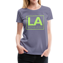 Load image into Gallery viewer, LA Needs Jesus Women's Premium T-Shirt-Women's Premium T-Shirt-PureDesignTees