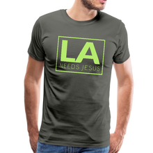 Load image into Gallery viewer, LA Needs Jesus Men's Premium T-Shirt-Men's Premium T-Shirt-PureDesignTees
