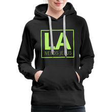 Load image into Gallery viewer, LA Needs Jesus Women's Premium Hoodie-Women's Premium Hoodie-PureDesignTees