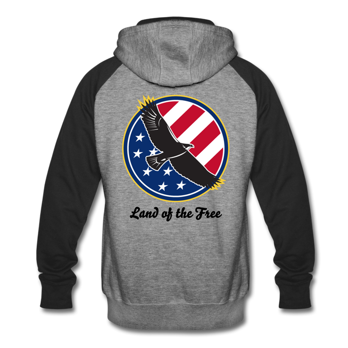 Land of the Free Men's Premium Tank-Colorblock Hoodie-PureDesignTees