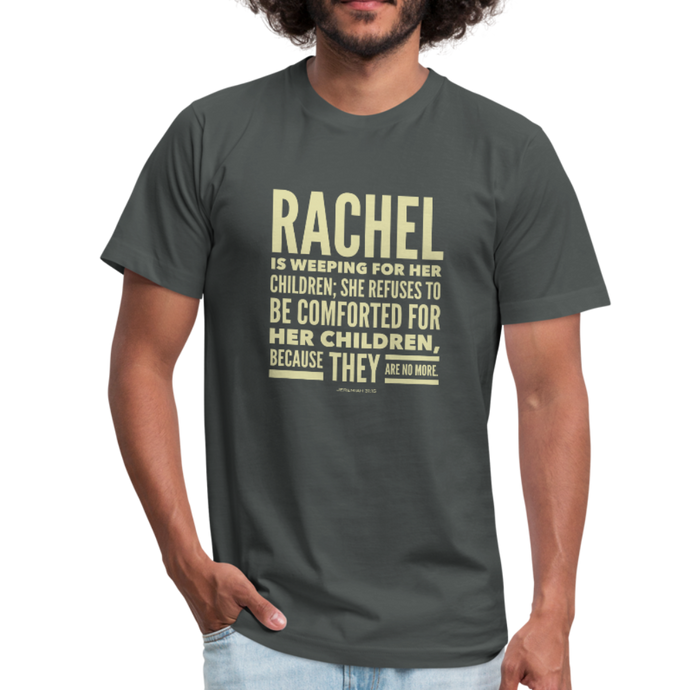 Rachel is Weeping for Her Children Men's Jersey T-Shirt-Men's Jersey T-Shirt-PureDesignTees