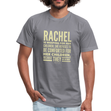 Load image into Gallery viewer, Rachel is Weeping for Her Children Men's Jersey T-Shirt-Men's Jersey T-Shirt-PureDesignTees