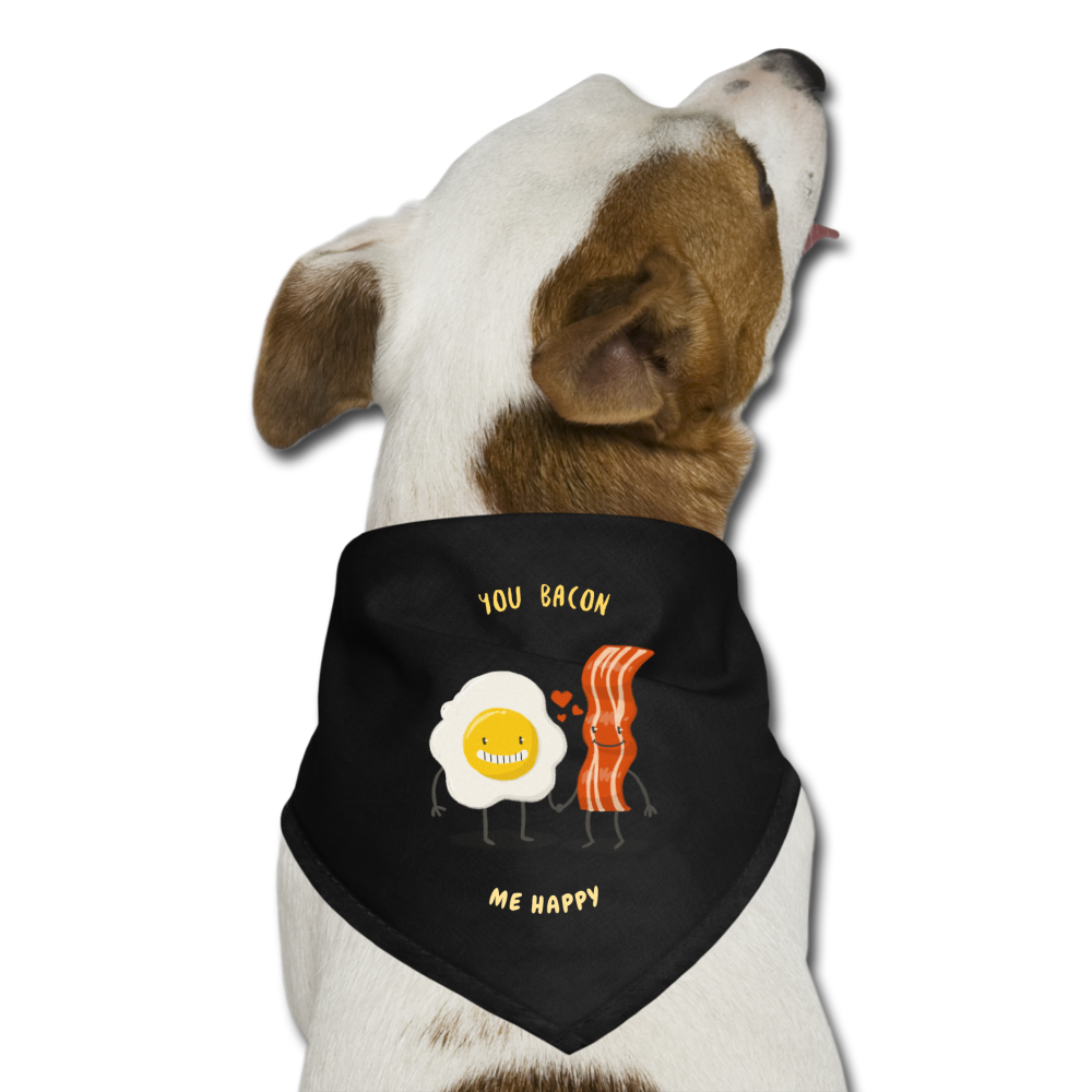 You Bacon Me Happy Dog Bandana-Dog Bandana-PureDesignTees
