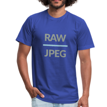 Load image into Gallery viewer, RAW over JPEG Photographer's Men's Jersey T-Shirt-Men's Jersey T-Shirt-PureDesignTees