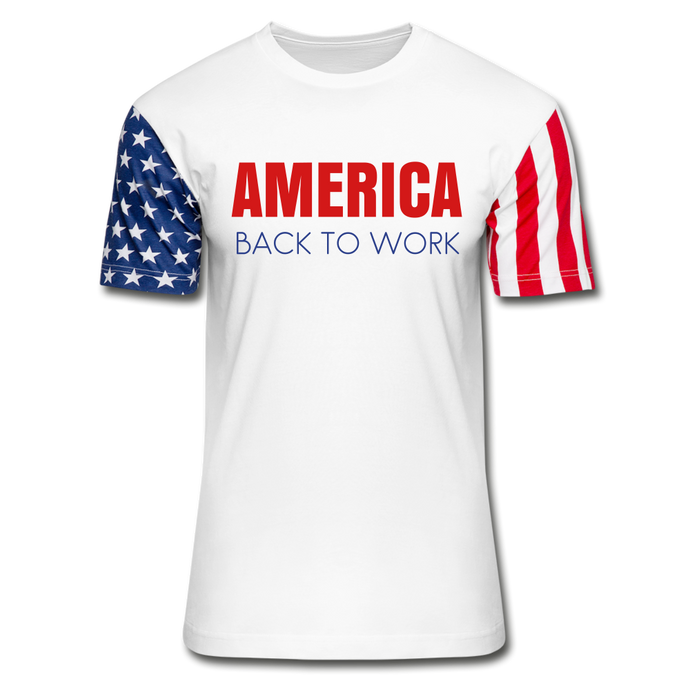 AMERICA - Back to Work Stars & Stripes T-Shirt-Stars & Stripes T-Shirt-PureDesignTees