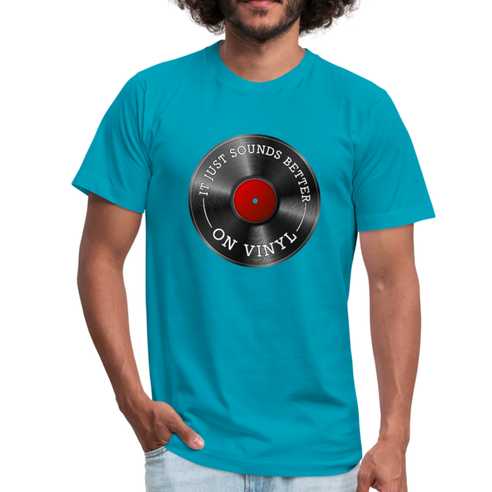 It Just Sounds Better On Vinyl Unisex Jersey T-Shirt by Bella + Canvas-Unisex Jersey T-Shirt by Bella + Canvas-PureDesignTees