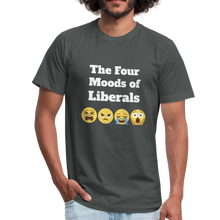 Load image into Gallery viewer, The Four Moods of Liberals Unisex Jersey T-Shirt-Unisex Jersey T-Shirt by Bella + Canvas-PureDesignTees
