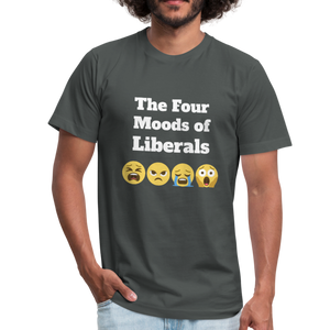 The Four Moods of Liberals Unisex Jersey T-Shirt-Unisex Jersey T-Shirt by Bella + Canvas-PureDesignTees
