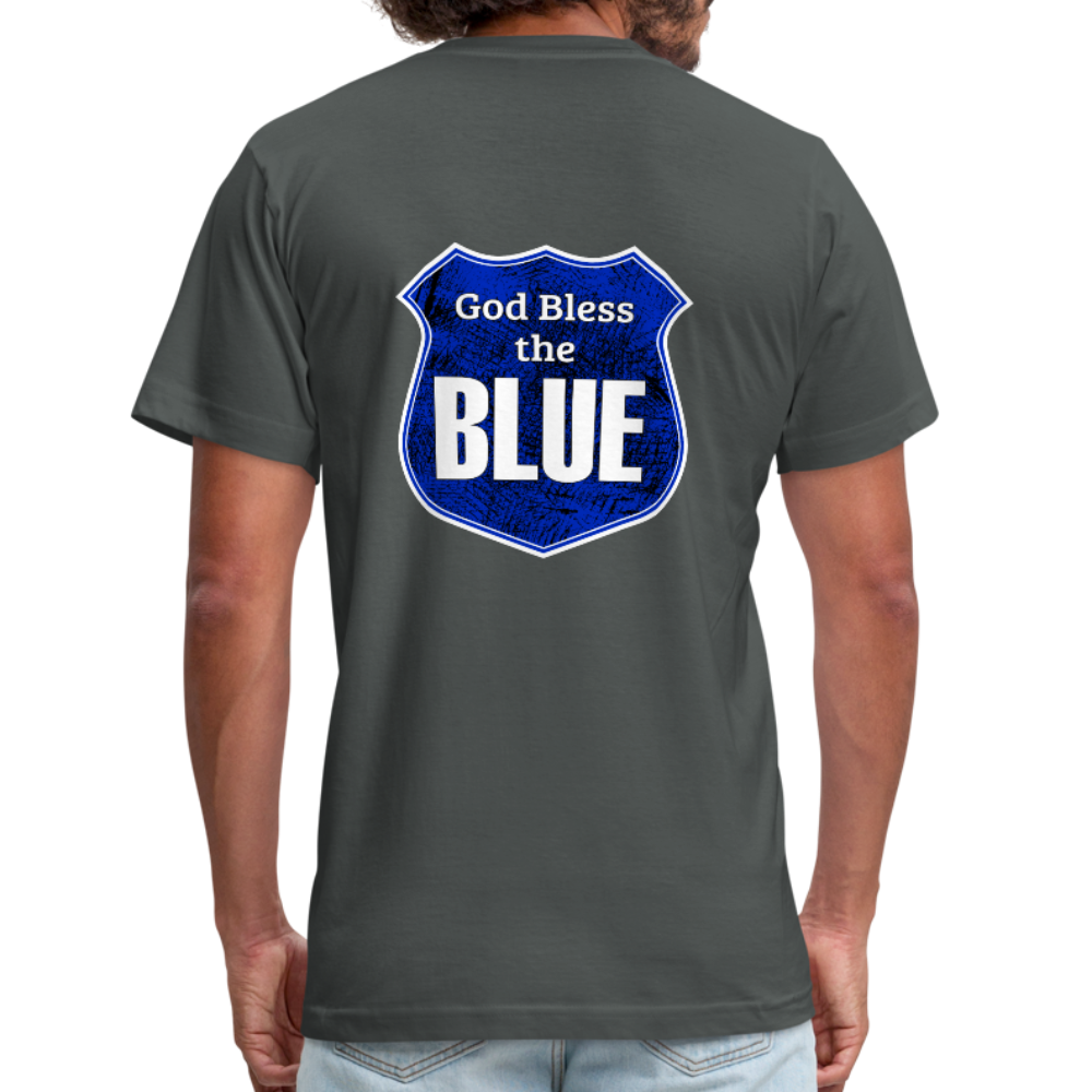 God Bless the Blue Unisex Jersey T-Shirt-Unisex Jersey T-Shirt by Bella + Canvas-PureDesignTees