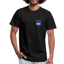 Load image into Gallery viewer, God Bless the Blue Unisex Jersey T-Shirt-Unisex Jersey T-Shirt by Bella + Canvas-PureDesignTees