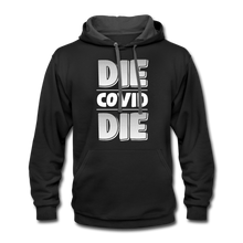 Load image into Gallery viewer, Die Covid Die Contrast Hoodie-Unisex Contrast Hoodie | Fruit of the Loom SF76R-PureDesignTees
