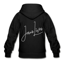 Load image into Gallery viewer, Jesus Lives Gildan Heavy Blend Youth Zip Hoodie-Heavy Blend Youth Zip Hoodie | Gildan  G18600B-PureDesignTees