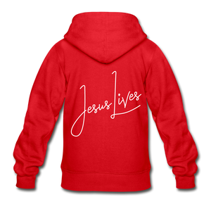 Jesus Lives Gildan Heavy Blend Youth Zip Hoodie-Heavy Blend Youth Zip Hoodie | Gildan  G18600B-PureDesignTees