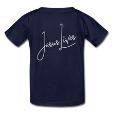 Load image into Gallery viewer, Jesus Lives Kids' T-Shirt-Kids' T-Shirt | Fruit of the Loom 3931B-PureDesignTees
