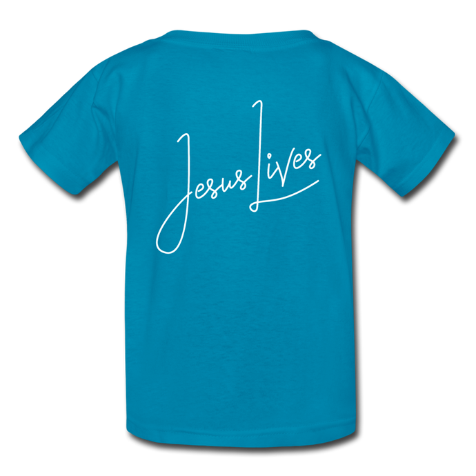 Jesus Lives Kids' T-Shirt-Kids' T-Shirt | Fruit of the Loom 3931B-PureDesignTees