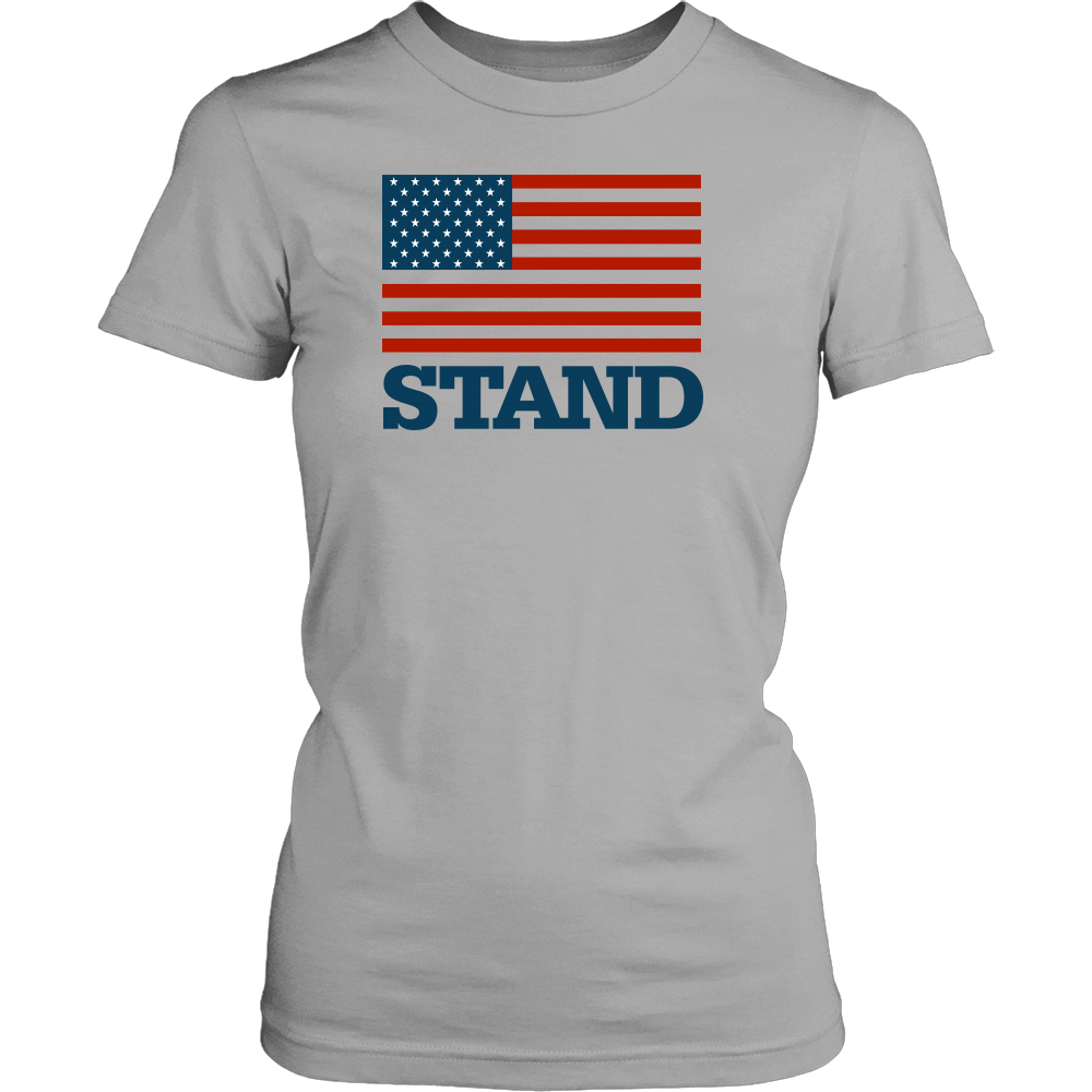 Stand for the Flag District Women's T-Shirt, T-shirt - PureDesignTees