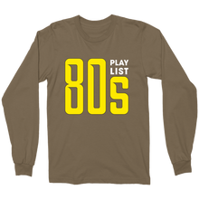 Load image into Gallery viewer, 80s Playlist Military Long Sleeve Tee-T-shirt-PureDesignTees