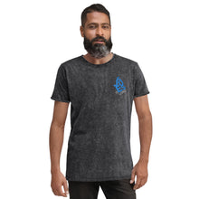 Load image into Gallery viewer, Jesus is Lord Embroidered Denim T-Shirt-Denim T-shirt-PureDesignTees