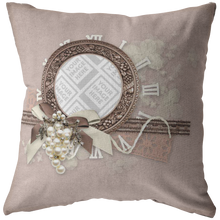 Load image into Gallery viewer, Elegant Scrapbook Inspired Frame Throw Pillow-Pillows Multi Template-PureDesignTees