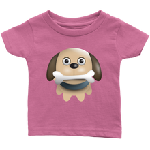 Load image into Gallery viewer, Puppy with Bone Infant 100% Cotton T-Shirt-T-shirt-PureDesignTees