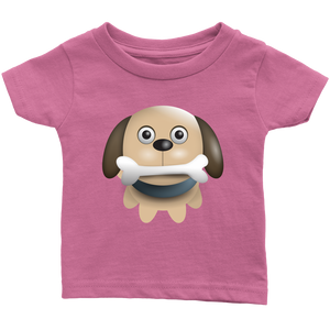Puppy with Bone Infant 100% Cotton T-Shirt-T-shirt-PureDesignTees