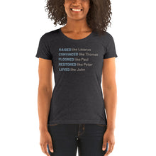 Load image into Gallery viewer, Raised Like Lazarus Ladies' short sleeve t-shirt-Ladies T-shirt-PureDesignTees