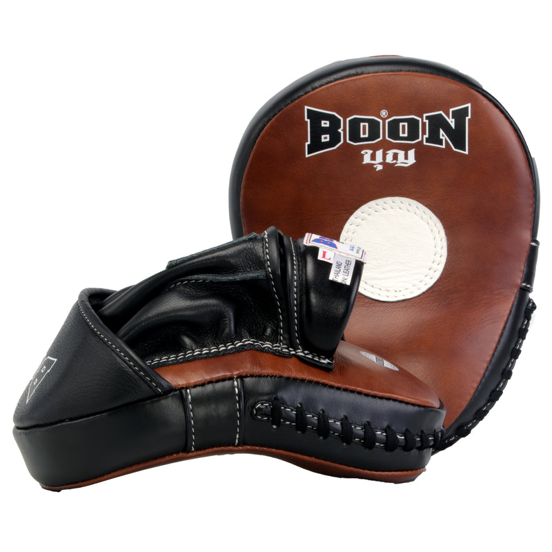 FMCHT Hooded Curved Focus Mitts  (Two Tone)