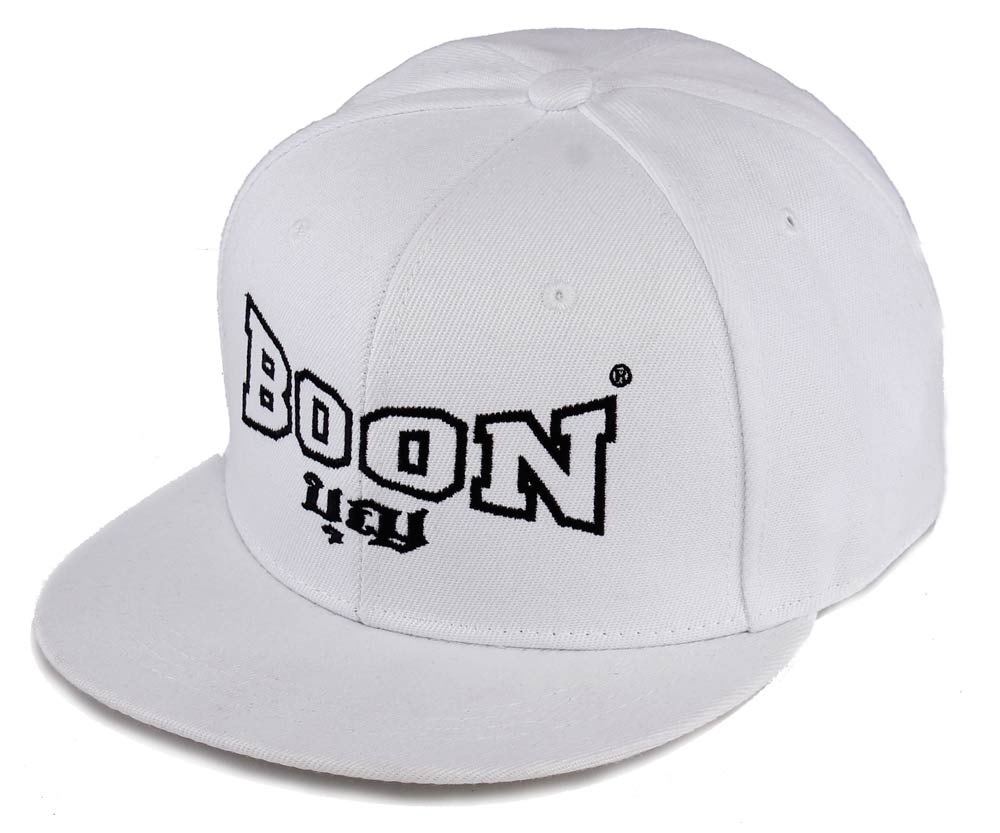 BCWH BOON Snapback Cap WHITE