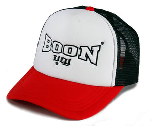 MCBR BOON Mesh Cap BLACK, WHITE & RED