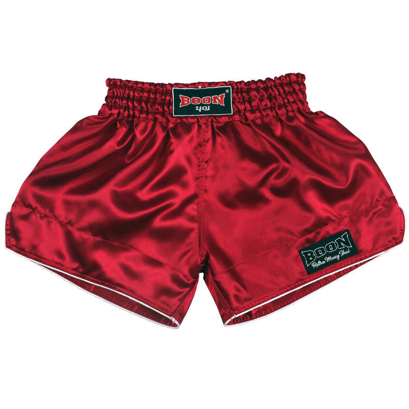 RSBU Retro Muay Thai Shorts BURGUNDY