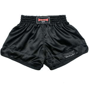 RSB Retro Muay Thai Shorts BLACK