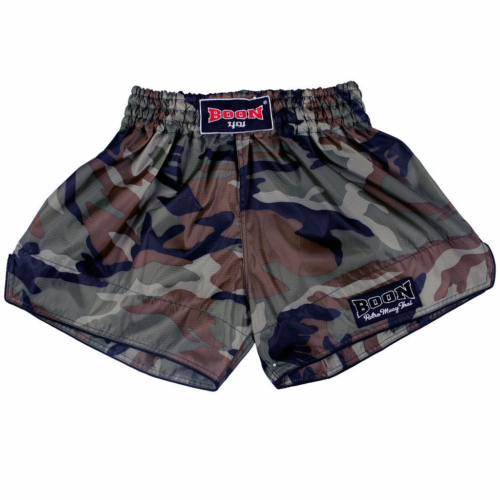 RSCG Retro Muay Thai Shorts CAMO GREEN