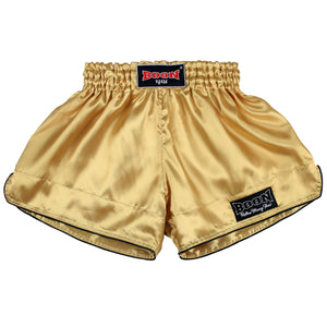 RSGO Retro Muay Thai Shorts GOLD