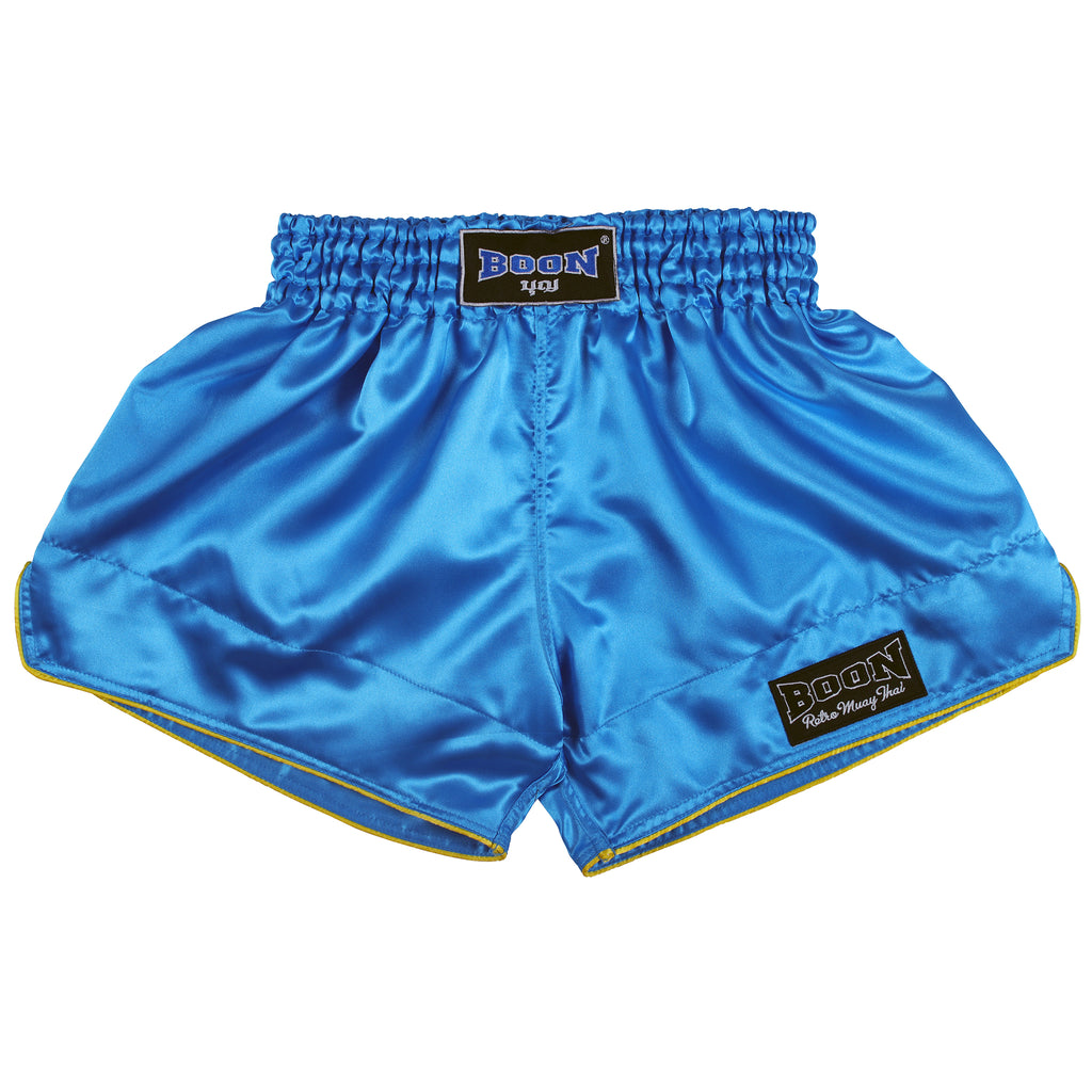 RSLB Retro Muay Thai Shorts LIGHT BLUE