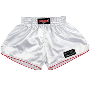 RSW Retro Muay Thai Shorts WHITE