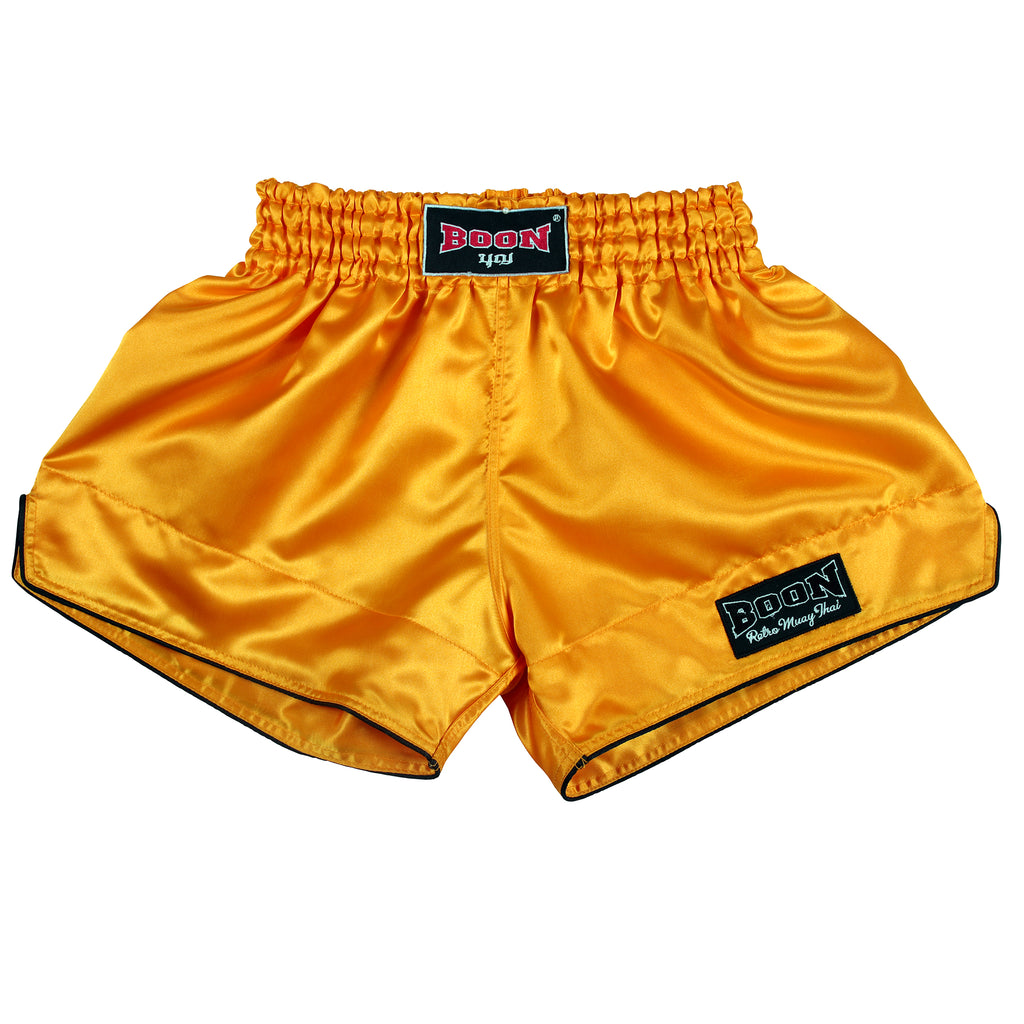 RSYG Retro Muay Thai Shorts YELLOW-GOLD