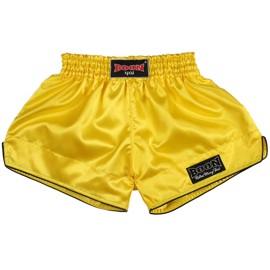 RSY Retro Muay Thai Shorts YELLOW