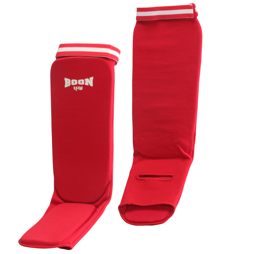 SCR Competition Shin Guards Red