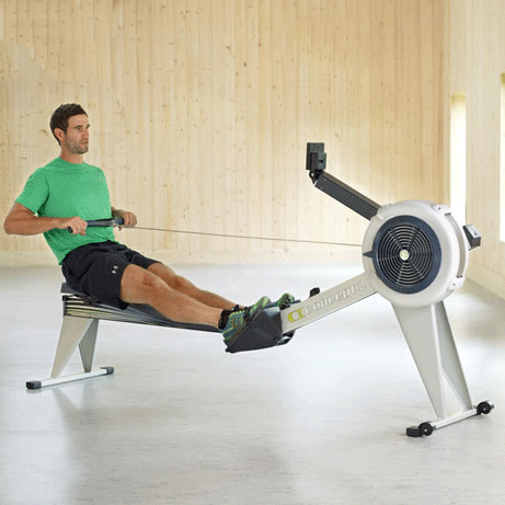 Indoor Rowing Machine with Man Concept2 E